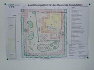 Ausführungsplan für den Bau eines Spielplatzes
