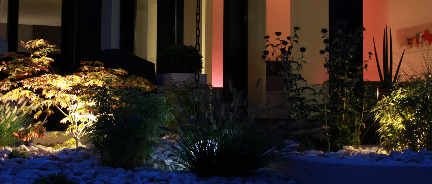 Beleuchtung mit Bodenstrahlern