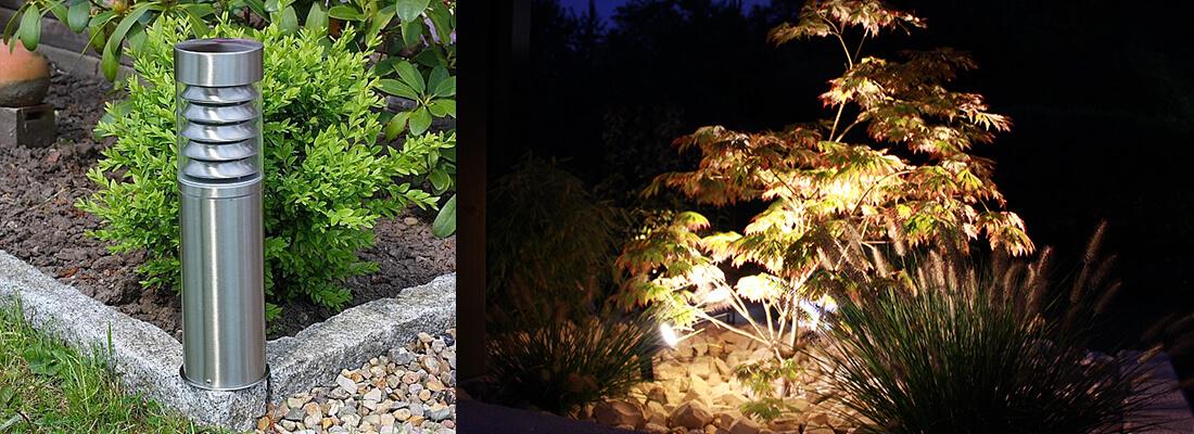 Moderne Gartenleuchte für Energiesparlampe